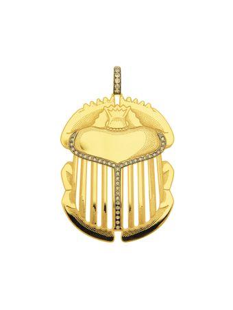 Pingente-Escaravelho-de-Ouro-Amarelo