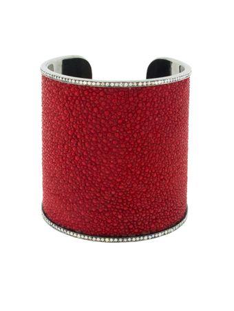 Bracelete-Galuchat-Vermelho