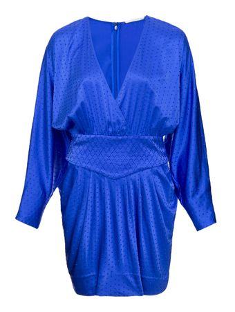 Vestido-Ellie-de-Seda-Azul