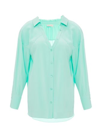 Camisa-de-Seda-Verde