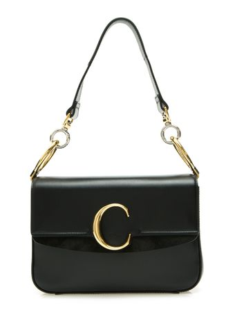 Bolsa-Chloe-C-Small-de-Couro-Preta