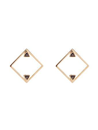 Brinco-Losango-Diamante-Negro-de-Ouro