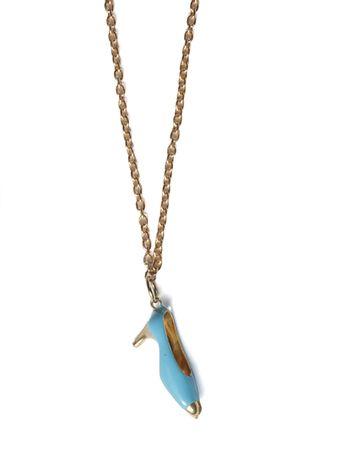 Pingente-Sapatinho-Azul-de-Ouro