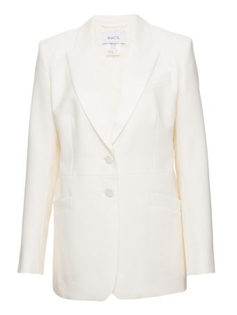 BLAZER-SINGLE-BREASTED STRUCTURED-TUXEDO-IVORY