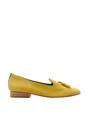 Loafer-Boyish-Daisy-de-Camurca-Amarelo