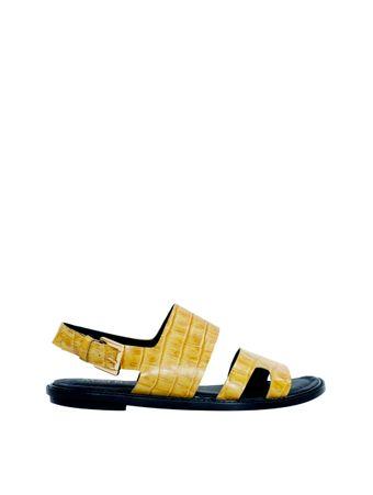 Sandalia-Lidy-Croco-Amarela