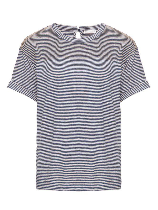Camiseta-de-Linho-Listrada