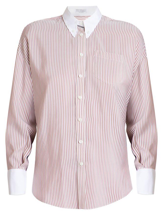 Camisa-de-Seda-Listrada