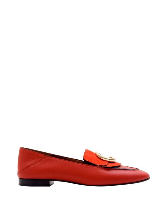 Loafer-de-Couro-Vermelho