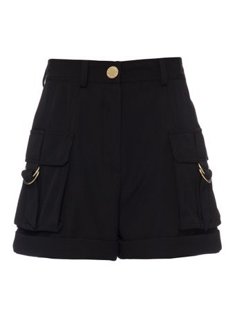 CALCA-GRAIN-DE-POUDRE-CARGO-SHORTS-0PA-BLACK