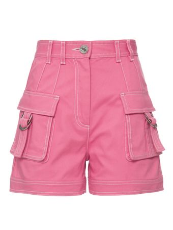CALCA-HIGH-WAIST-DENIM-CARGO-SHORTS-PINK