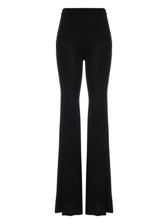 CALCA-HIGH-WAIST-JERSEY-FLARED-PANTS-0PA-BLACK