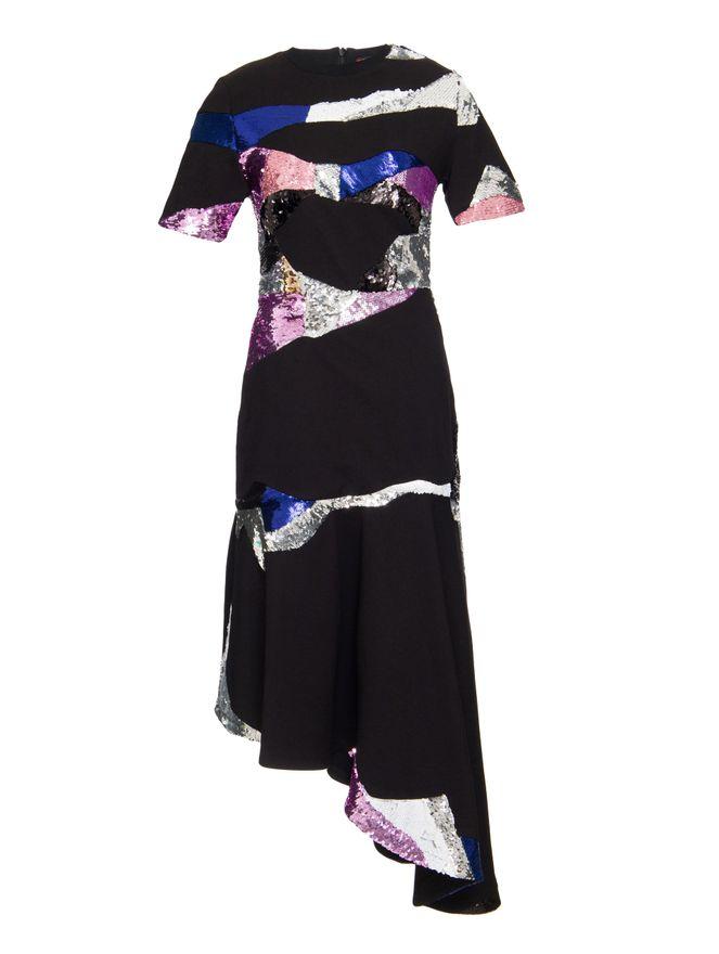 Vestido-Mosaic-Paete-Preto