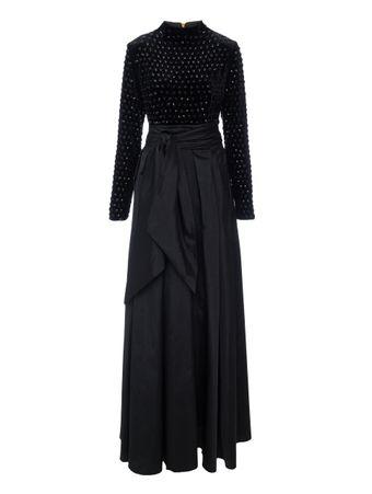 Vestido-Gala-Veludo-Preto