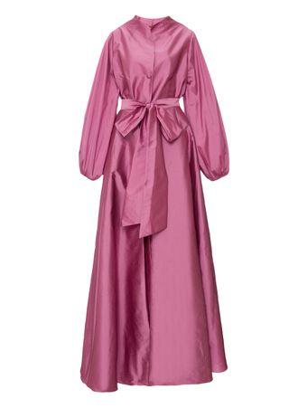 Vestido-Chemise-Maxi-Rosa