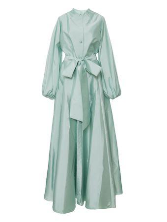 Vestido-Chemise-Maxi-Azul