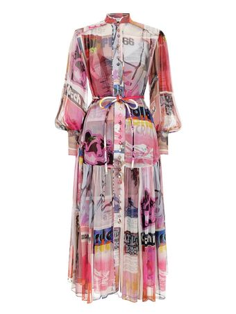 VESTIDO-WAVELENGTH-HIGH-COLLAR-MIDI-PINK-POSTER-PRINT