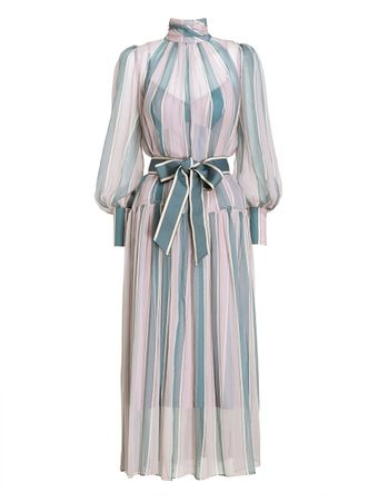 VESTIDO-WAVELENGTH-ROLL-NECK-MIDI-DUSTY-PINKTEAL-STRIPE