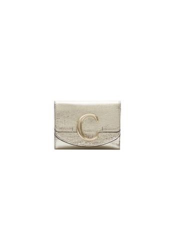 PORTA-CARTAO-CHLOE-C-CARD-HOLDER-SIMPLE-GOLD-COLOR