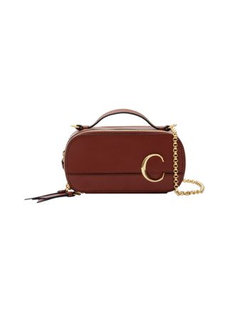 BOLSA-CHLOE-C-MINI-VANITY-BAG-IN-SHINY-C-SEPIA-BROWN