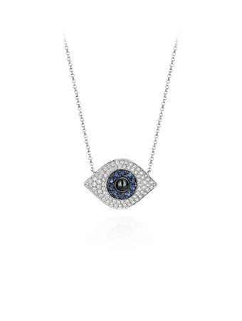 Gargantilha-em-ouro-branco-diamantes-e-safiras