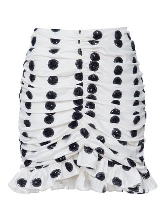 SAIA-WOVEN-WOMAN-BLACKWHITE-SKIRT-BLACKWHITE