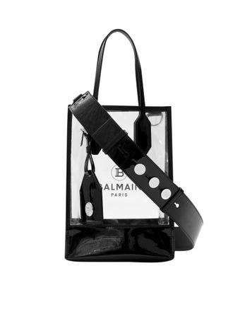BOLSA-BALMAIN-SHOPPING-BAG-SPVC-TRANSPARENTBLACK