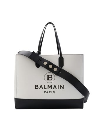 BOLSA-BALMAIN-SHOPPING-BAG-MCUIR-IMPRIM-GAB-WHITEBLACK