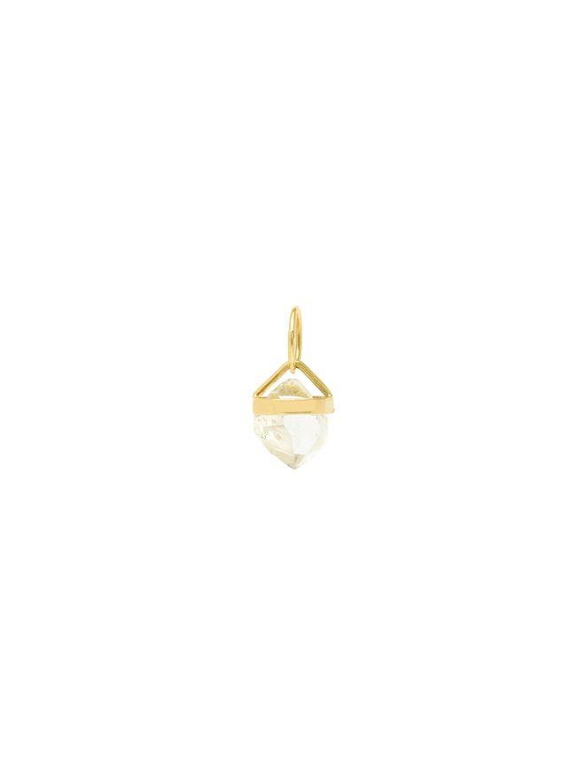 Pingente-Diamante-Herkimer-de-Ouro