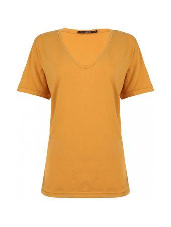 Camiseta-Basic-V-Tinturada-Laranja
