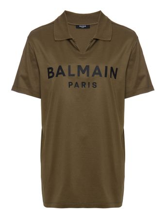CAMISA-BALMAIN-TSHIRT-WITH-A-POLO-COLLA-KAKI