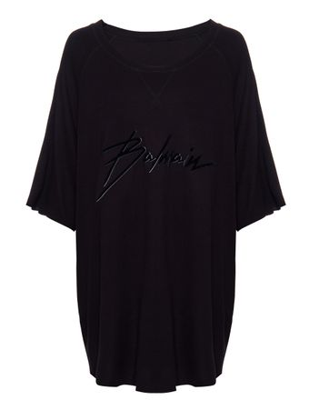CAMISETA-BALMAIN-SIGNATURE-RAW-EDGE-TSH-0PA-BLACK