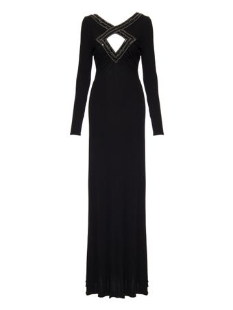 VESTIDO-LONGO-LONG-DRESS-LONG-DRESS-NERO