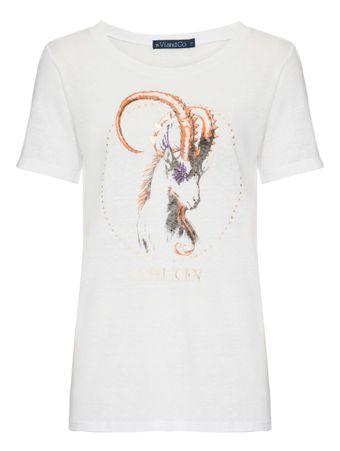 Camiseta-Capricornio-Branca