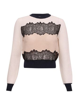 SUETER-LACE-PANEL-KNIT-TOP-SUETER-MULTI