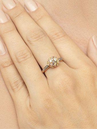 Anel-Bubbles-de-Ouro-Rose-com-Diamante-Brown-Crisoberilo-e-Granada