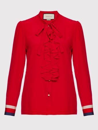 Camisa-Seda-Vermelha