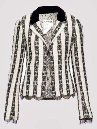 Blazer-Tweed-Listrado