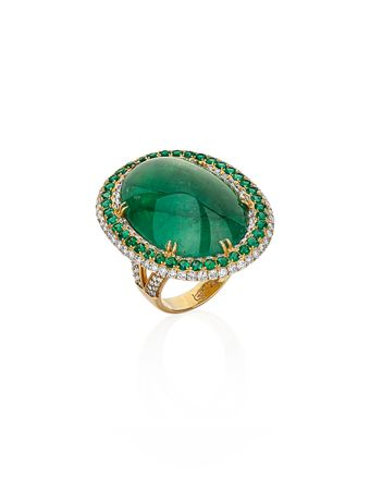 Anel-Oval-Esmeralda-e-Diamantes-de-Ouro