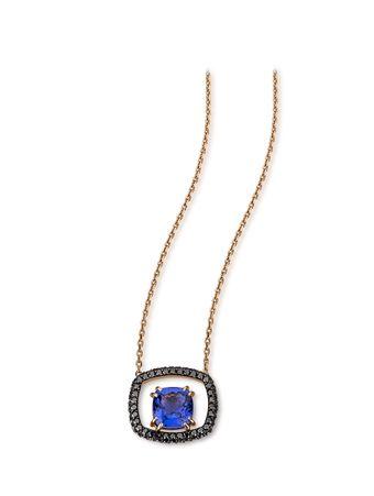 Gargantilha-Diamantes-Negros-e-Tanzanita-de-Ouro-Rose