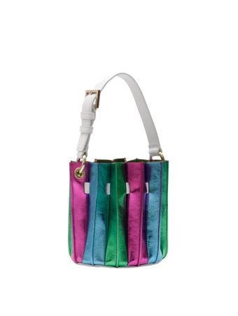 BOLSA-PLISSE-MINI-BUCKET-BAG-MULTI-METALLIC