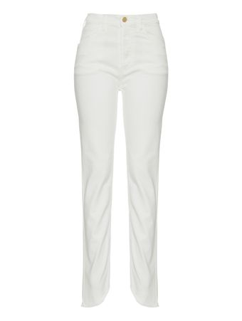 CALCA-WHITE-SKINNY-DENIM-WITH-RAW-EDGE-WHITE