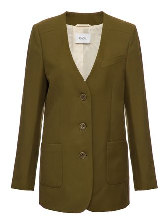 JAQUETA-SINGLE-BREASTED-COLLARLESS-JACKE-KHAKI