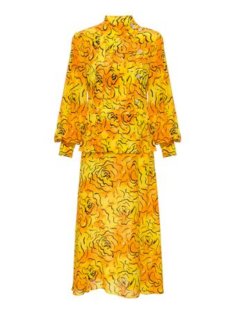 VESTIDO-CREPE-DE-CHINE-ROSE-PRINT-PLEATE-YELLOW