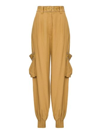 CALCA-WOMEN'S-PANTS-CAMEL