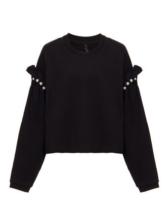 SUETER-CROPPED-JUMPER-WITH-PEARL-SHOULDE-BLACK