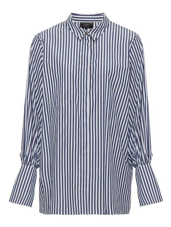 CAMISA-SHIRT-WITH-PEARL-CUFF-NAVY-WHITE