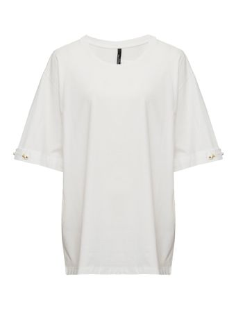 CAMISETA-T-SHIRT-WITH-PEARL-BAR-SLEEVE-WHITE