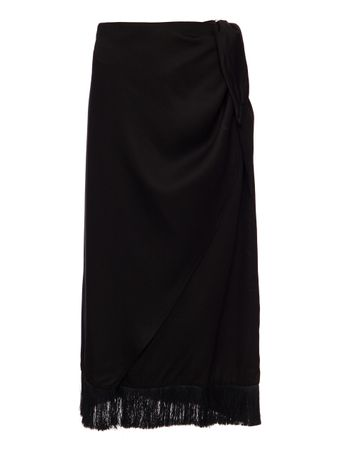 SAIA-WRAP-SKIRT-WITH-FRINGE-TRIM-BLACK