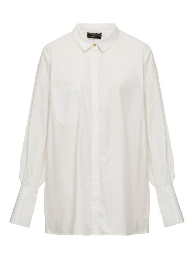 CAMISA-SHIRT-WITH-PEARL-CUFF-WHITE